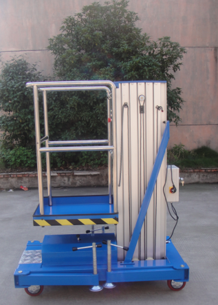 Single mast 6 m aluminum alloy lift