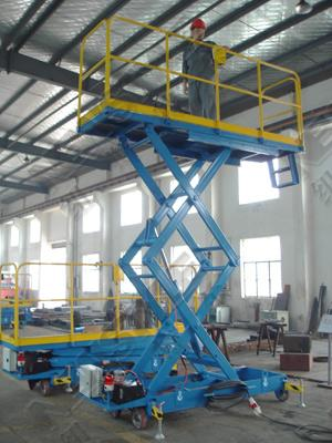Self - propelled electric lift platform